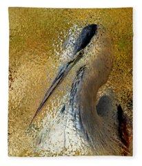 Life In The Sunshine - Bird Art Abstract Realism Fleece Blanket