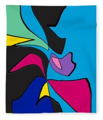 Original Abstract Art Painting Life Is Good By Rjfxx.  Fleece Blanket