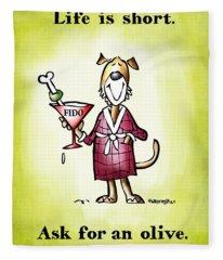 Life Is Short Fleece Blanket