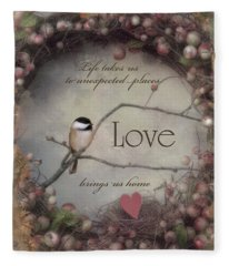 Life Love Home Fleece Blanket