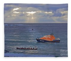Lifeboats And A Gig Fleece Blanket