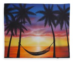 Life's A Beach Fleece Blanket