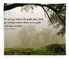 Life's Path Inspirational Art Fleece Blanket