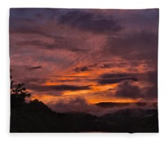Light And Color Show Fleece Blanket
