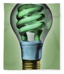 Light Bulb Fleece Blanket