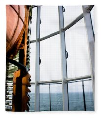 Lighthouse Lens Fleece Blanket