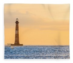 Lighthouse Sunrise Fleece Blanket