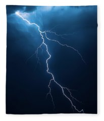 Lightning With Cloudscape Fleece Blanket