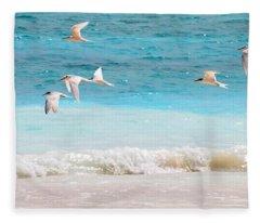 Like Birds In The Air Fleece Blanket
