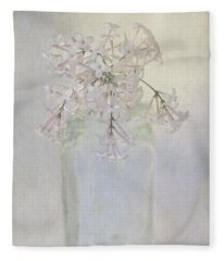 Lilac Flower Fleece Blanket