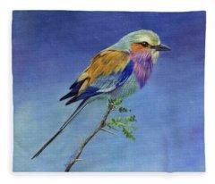 Lilacbreasted Roller Fleece Blanket