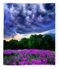 Lilacs Fleece Blanket