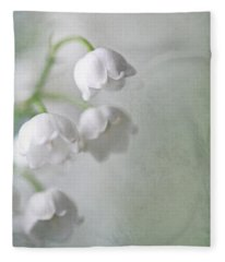 Lilies Of The Valley Fleece Blanket