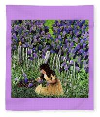 Lillian's Lilacs Fleece Blanket