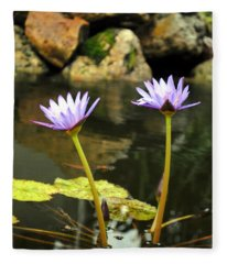 Lillies Of The Pond Fleece Blanket
