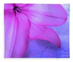 Lily - Digital Art Fleece Blanket