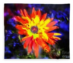 Lily In Vivd Colors Fleece Blanket