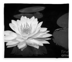 Lily On The Water Fleece Blanket