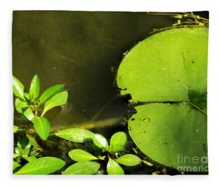 Lily Pad Fleece Blanket