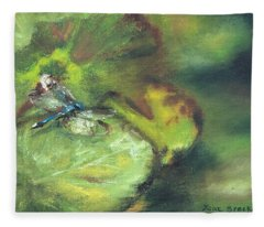 Lily Pads Fleece Blanket