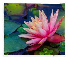 Lily Pond Fleece Blanket