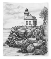 Lime Kiln Lighthouse Fleece Blanket