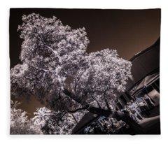 Lincoln Road Tree Fleece Blanket