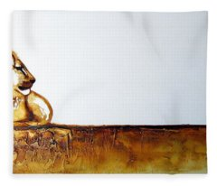 Lion And Lioness - Original Artwork Fleece Blanket