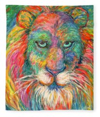 Lion Explosion Fleece Blanket