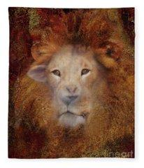 Lion Lamb Face Fleece Blanket