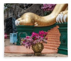 Lion Paws Of The Entrance To Golden Temple. Dambulla Fleece Blanket