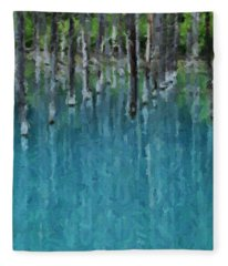 Liquid Forest Fleece Blanket