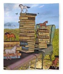 Literary Levels Fleece Blanket