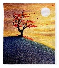 Little Autumn Tree Fleece Blanket