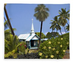 Little Blue Church Kona Fleece Blanket