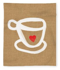 Little Cup Of Love Fleece Blanket