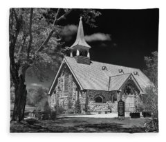 Little Stone Church Fleece Blanket