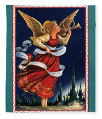 Little Town Of Bethlehem Fleece Blanket