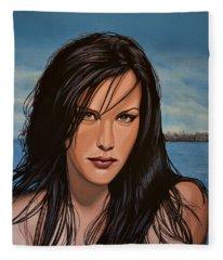 Liv Tyler Fleece Blanket
