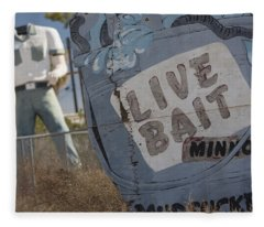 Live Bait And The Man Fleece Blanket