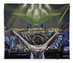 Live Dj Fleece Blanket