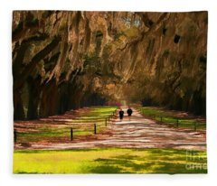 Live Oaks Fleece Blanket
