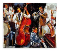 Living Jazz Fleece Blanket