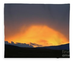 Livingstone Range Sunset Fleece Blanket