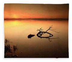 Loch Leven Sunset Fleece Blanket