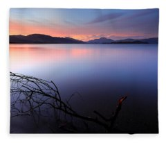 Loch Lomond Sunset Fleece Blanket