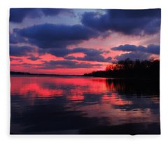 Locust Sunset Fleece Blanket