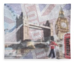 London Blue Fleece Blanket