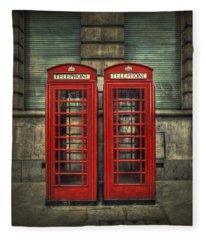 London Calling Fleece Blanket