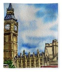 London England Big Ben Fleece Blanket